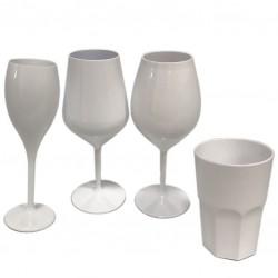 Pahar Long Drink 400ml (GRANITY) - Polycarbonat Alb