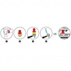 BURETE cu PERIE - pentru Curatare Portafiltru Espressor